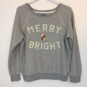 American Eagle Merry and Bright Sweatshirt sz L